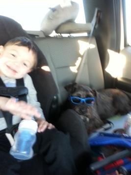 Paul and JoJo riding buddies!