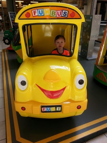 "Paul driving the ""Fun Bus"""