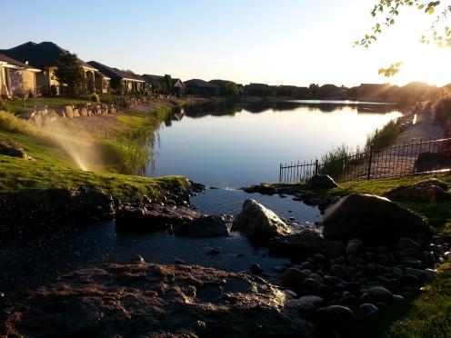 Lake across the street