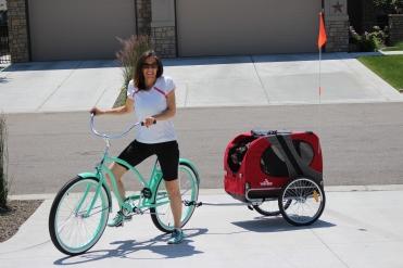 Jacquie and JoJo Saturday bike ride