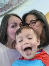 Jamie, Paul and I - Making funny faces..he's 4!