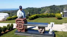 Mom at cemetary. She loved the San Francisco Giants!